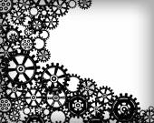 Mechanical background with gears — Stock Vector