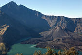 Views on Rinjani Volcain in Indonesia — Stock Photo