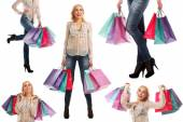 Kvinna med väskor — Stockfoto