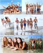 Best friends on the beach — Stock Photo
