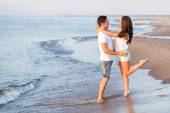 Lovely couple on the beach — Stock Photo