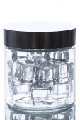 Ice cubes in a jar — Stock Photo