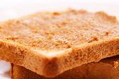 Peanut sandwich on the table — Stock Photo