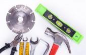 Tools set on the table — Stockfoto