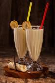 Délicieux banana milkshake — Photo