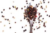 Peppercorn with a spoon — Stock fotografie
