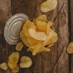 Delicious potato chips — Stock Photo #55034973