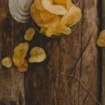 Delicious potato chips — Stock Photo #55034985