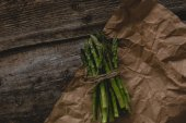Asparagus on a wooden table — Stock Photo