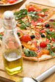 Delicious sliced pizza — Photo