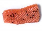 生鮭のスライス — ストック写真