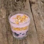 Yoghurt with muesli close up — Stock Photo #56548137