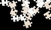 Uncompleted White puzzle — Stock Photo