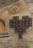 Çikolata tarçın ve çerezler ile — Stok fotoğraf