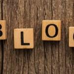 Word blog on toy bricks — Stock Photo #57976035