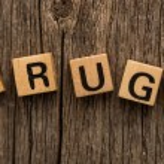 Word drugs on toy bricks — Stock Photo #57976279