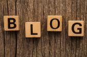 Word blog on toy bricks — Stock Photo