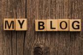 Words my blog on toy bricks — Stock Photo