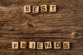 Phrase best friends on toy bricks — Stock Photo