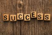 Word success on toy bricks — Stock Photo