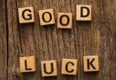 Good luck on toy bricks — Stock Photo