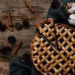Delicious blueberry pie on the table — Stock Photo #57990379