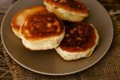 Homemade pancakes on plate — Stock Photo