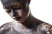 Beautiful girl with great makeup — Foto de Stock