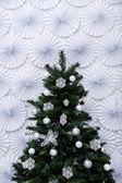 Shiny Christmas tree — Stock Photo