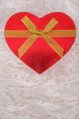 Gift box in heart shape — Stock Photo