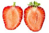 Two halves of strawberry — Stock Photo