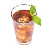 Glas te med citron — Stockfoto