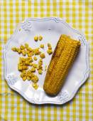Delicious corn on plate — Stock Photo