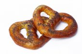Pretzels on the table — Stock Photo