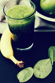 Spinach drink and apples — Foto Stock
