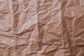 Brown crinkly paper — Stock Photo