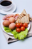 Delicious food for breakfast — Stock Photo