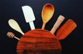 Kitchen utensil on the table — Fotografia Stock