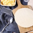 Preparing of pizza at home — Stok fotoğraf #67133693