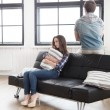 Couple having disagreement at home — Stock Photo #70289475