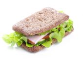 Delicious sandwich on the table — Stock Photo
