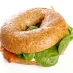 Delicious bagel sandwich — Stock Photo #73111855