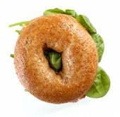 Delicious bagel sandwich — Stock Photo
