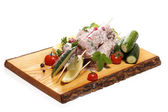 Delicious food on board — Stock Photo