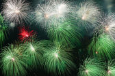 Colorful volleys fireworks — Stock Photo