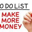 Make More Money To Do List — Stock Photo #53656507