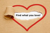 Find what you love Torn Paper — Stock Photo