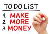 Make More Money To Do List — Stock Photo