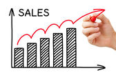 Sales Growth Graph — Stock Photo