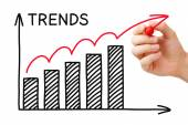 Trends Growth Graph — Stock Photo